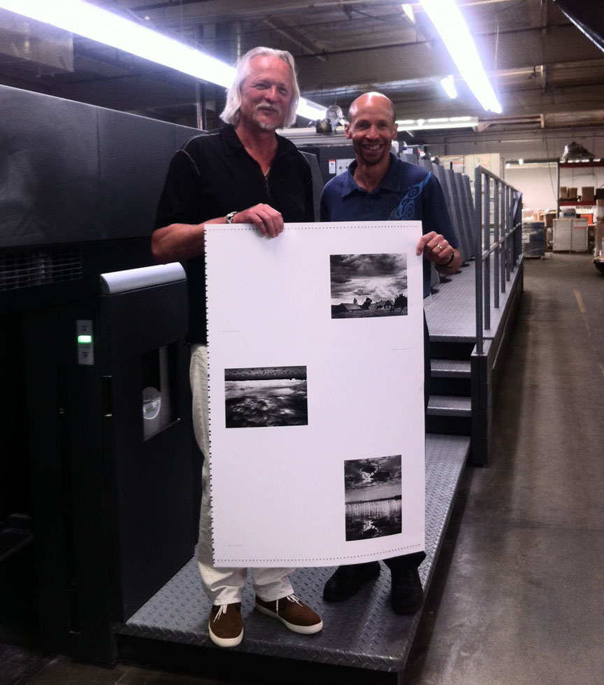 Kevin Broady - Roman Loranc on-press Dual Graphics
